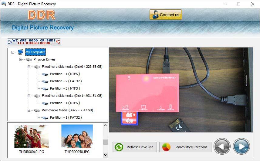 Digital Image Undelete Utility